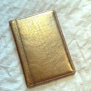 J.Crew NWT Gold Passport Holder